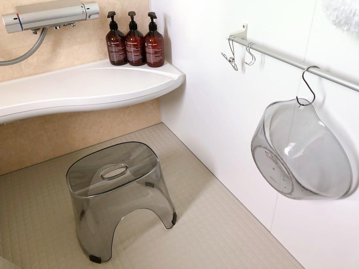 桧家住宅のお風呂仕様・掃除用具*